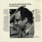 Fred Gerlach - Songs My Mother Never Sang - Back Sleeve