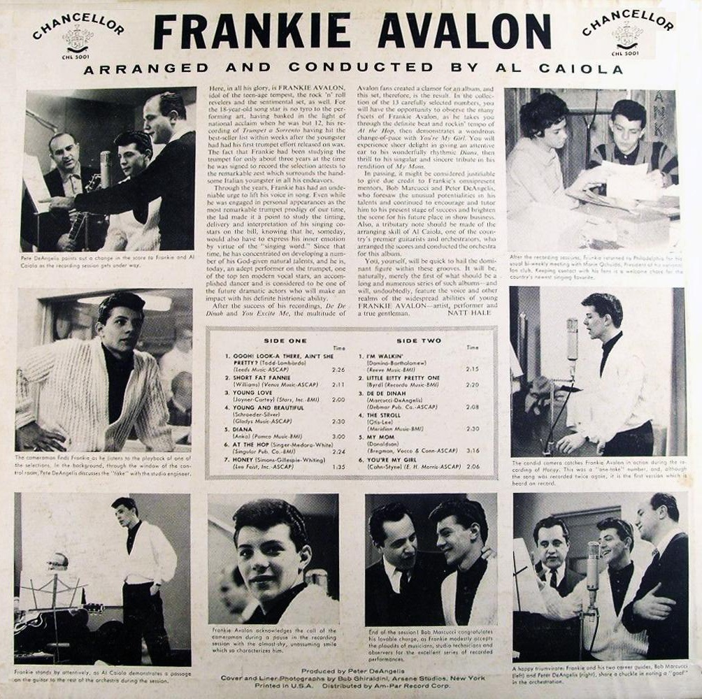 Frankie Avalon - 1958 - back